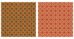 Set of abstract patterns seamless Stock Photography