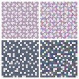 Set of abstract patterns - squares and circles. Royalty Free Stock Image