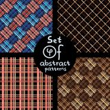 Set of 4 abstract patterns. Vector illustration Royalty Free Stock Photos