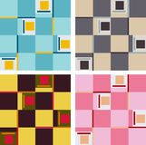 Set of Abstract Patterns. Set of verious colored quadrant patterns Royalty Free Stock Images