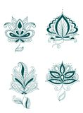 Set of abstract persian or indian flowers Stock Images