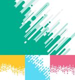 Set of abstract pink, green, yellow, blue Rounded Lines Halftone. Transition Background. Vector Illustration Royalty Free Stock Images