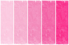 Set of abstract pink watercolor hand painted Stock Image