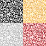 Set of Abstract Pixel Backgrounds Stock Image