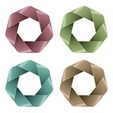 Set of Abstract Polygon icons. Royalty Free Stock Image