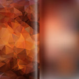 Set of abstract polygon triangles and blurred smooth backgrounds Stock Photo