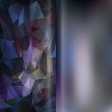Set of abstract polygon triangles and blurred smooth backgrounds Royalty Free Stock Image