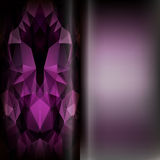 Set of abstract polygon triangles and blurred smooth vector back Royalty Free Stock Image