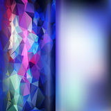 Set of abstract polygon triangles and blurred smooth vector back Royalty Free Stock Images