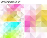 Set of Abstract polygonal background design, vector elements for graphic template. Royalty Free Stock Images