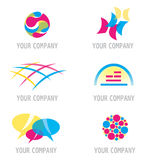Set of Abstract Primary Colors Icons Royalty Free Stock Photography