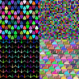 Set of Abstract rainbow colorful tiles mosaic Stock Image