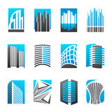 Set of abstract real estate icons Royalty Free Stock Photography