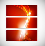 Set of abstract red banners Stock Photo