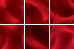 Set of abstract vector red neon backgrounds Royalty Free Stock Images
