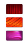 Set abstract red tones drapery background Royalty Free Stock Image