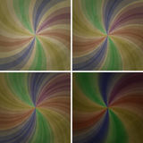 Set of abstract retro backgrounds Stock Image