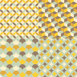 Set of abstract retro geometric pattern Stock Image