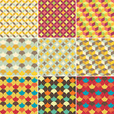 Set of abstract retro geometric pattern Royalty Free Stock Images