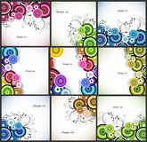 Set abstract romantic floral background. Vector Royalty Free Stock Images