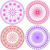 Set - abstract Round Ornament Pattern. Mandala. Stock Images