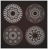 Set of abstract, round ornaments, stencils Stock Photo