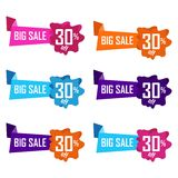 Set of abstract sale sticker Stock Image