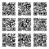 Set of Abstract scan codes Stock Image