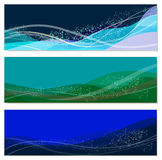 Set of abstract sea backgrounds Royalty Free Stock Photography