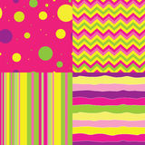 Set of abstract seamless background Stock Images