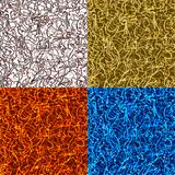 Set abstract seamless backgrounds Royalty Free Stock Photos