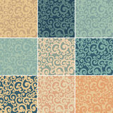 Set of abstract seamless backgrounds Stock Photography