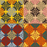 Set of abstract seamless geometric patterns Royalty Free Stock Photography