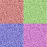 Set of Abstract Seamless Leaves Pattern Stock Photo