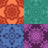 Set of 4 abstract seamless pattern Stock Photo