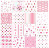 Set of abstract seamless pattern Royalty Free Stock Photos