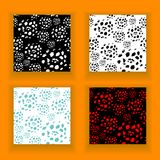 Set  abstract seamless pattern made by artist acrylic hard brushes Stock Photography