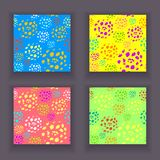 Set  abstract seamless pattern made by artist acrylic hard brushes colorful Stock Photography