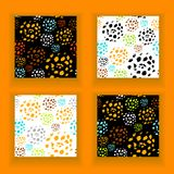 Set  abstract seamless pattern made by artist acrylic hard brushes Stock Photos