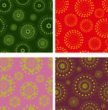 Set of abstract seamless pattern. Set of vector abstract seamless doodle pattern. Multicolor patterns with circle and ellipse and dot and line Royalty Free Stock Photos