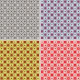 Set abstract seamless patterns Royalty Free Stock Image