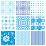 Set abstract seamless patterns royalty free illustration