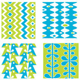 Set of abstract seamless patterns Royalty Free Stock Images