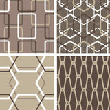 Set of abstract seamless patterns Royalty Free Stock Image