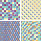 Set of abstract seamless patterns Stock Images