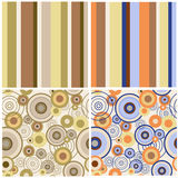 Set of abstract seamless patterns Stock Image