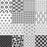 Set of abstract seamless patterns Stock Photos