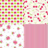 Set of abstract seamless patterns Stock Photo