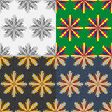 A set of abstract  seamless patterns Stock Image