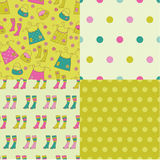 Set of abstract seamless patterns Stock Photography